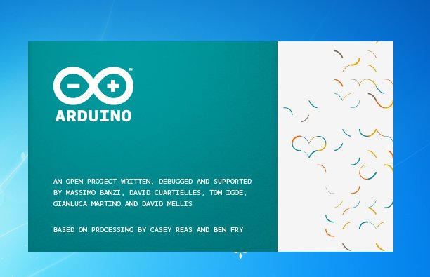 Le splash screen Arduino