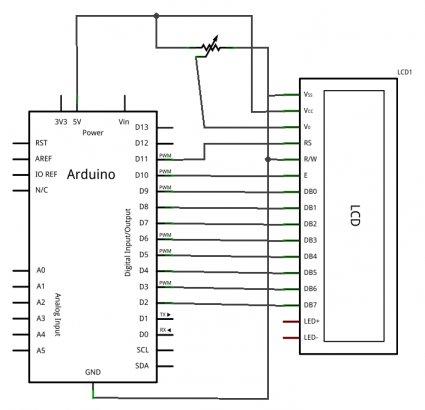 Module LCD Alphanumérique 20 x 4 bleu rétroéclairé arduino